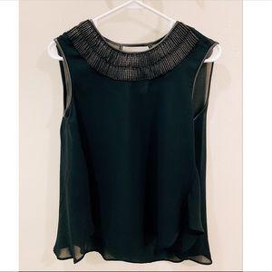 Zara Black Top with Embellished Collar